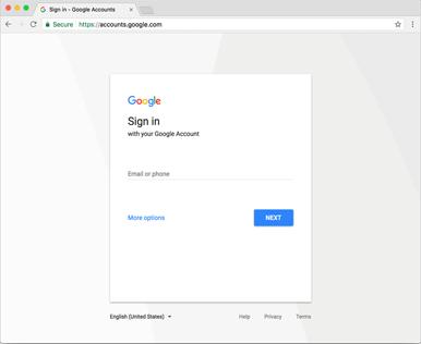 Acceso Google
